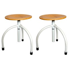 Pair of Work Stools by Cor Alons