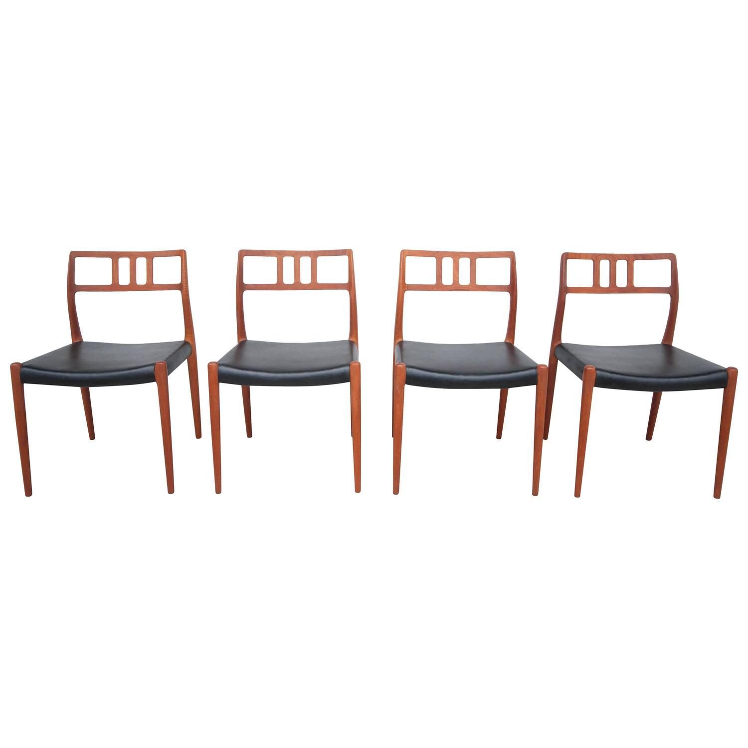 Midcentury Niels Moller 79 Teak Dining Chairs At 1stdibs