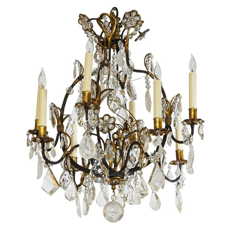 French Rock Crystal Chandelier At 1stdibs