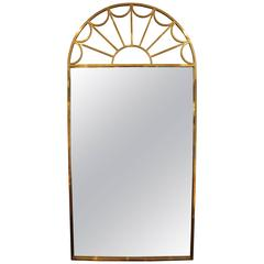 Mastercraft Tubular Brass Palladian Wall Mirror