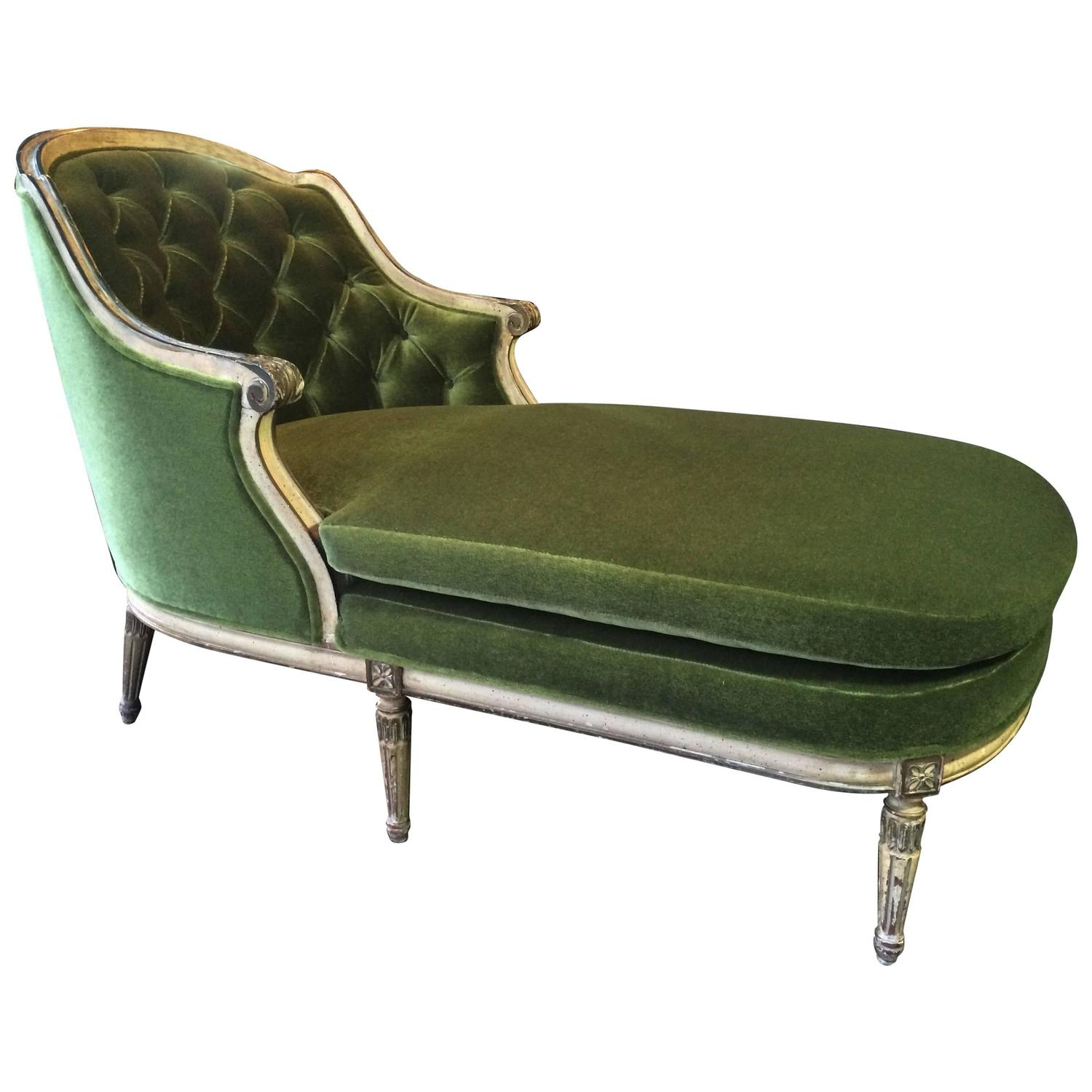 early 20th century louis xvi chaise longue for sale at 1stdibs. Black Bedroom Furniture Sets. Home Design Ideas