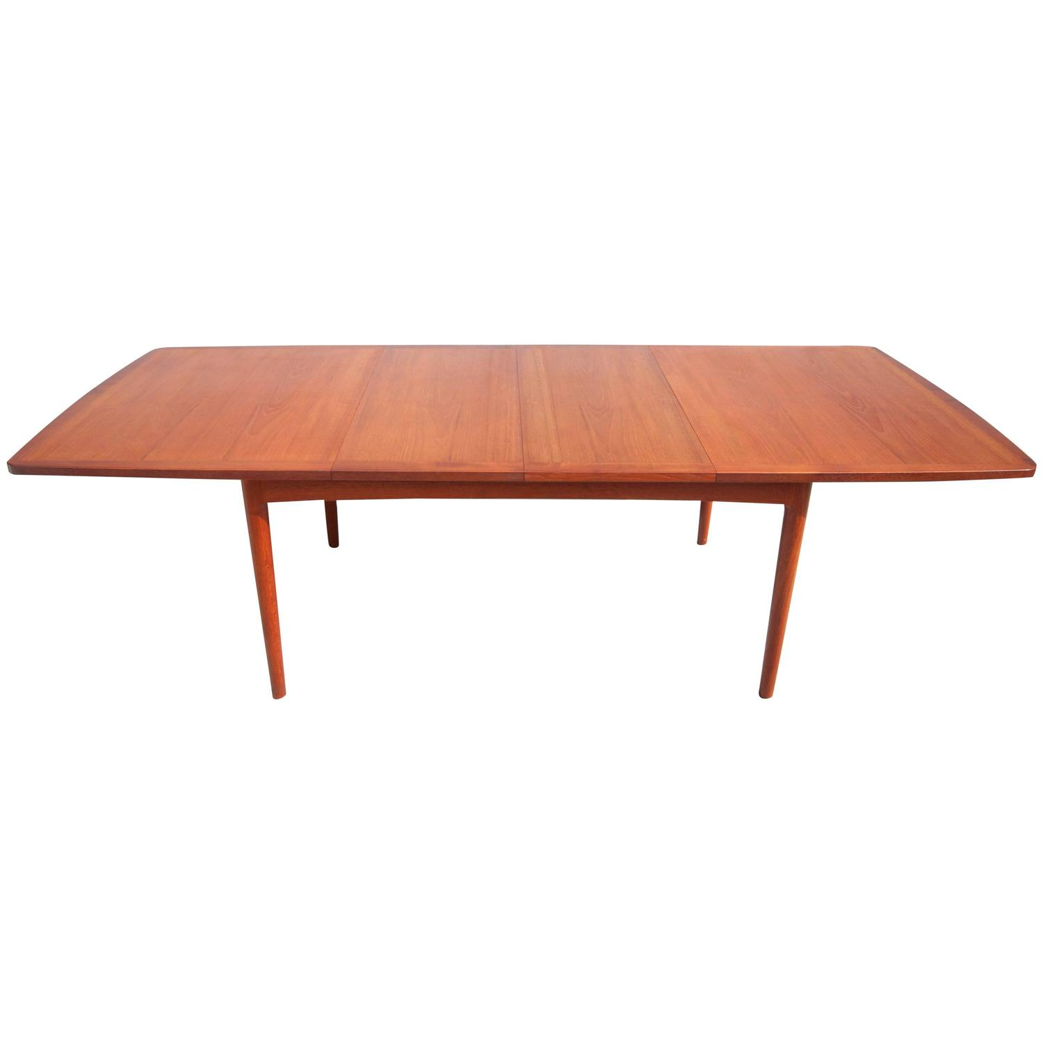 midcentury teak expandable dining table at 1stdibs
