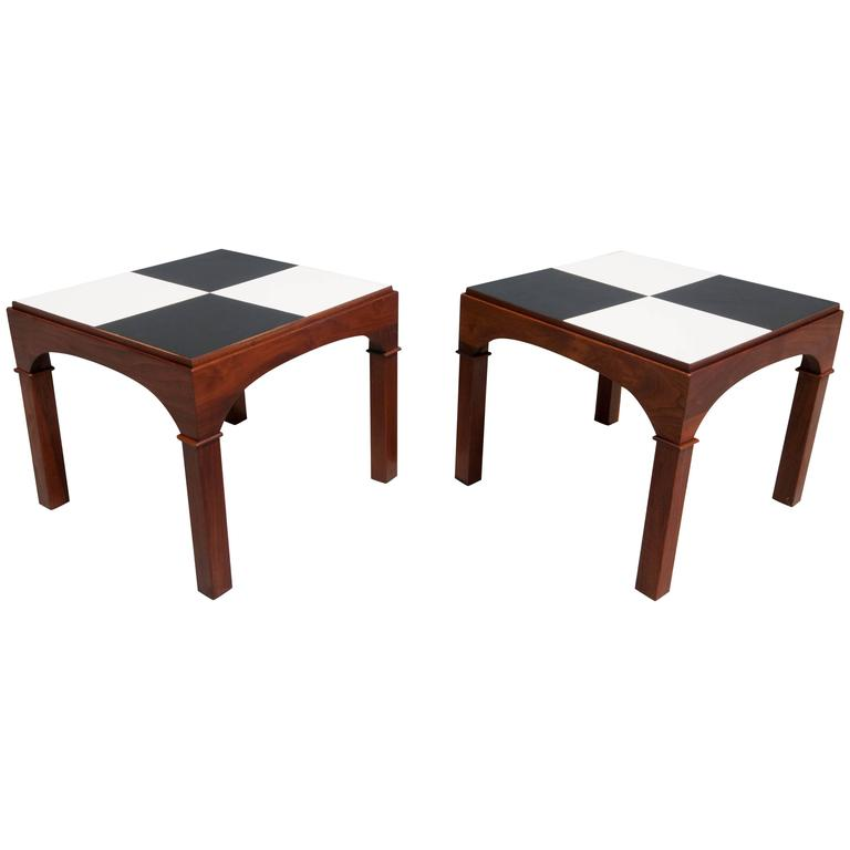Brown Saltman End Tables by John Keal