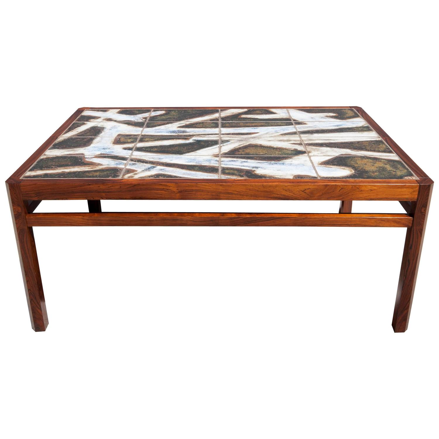 Danish Rosewood Abstract Tile Coffee Table At 1stdibs