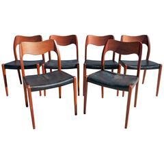 Niels Moller 71 Teak Dining Chairs