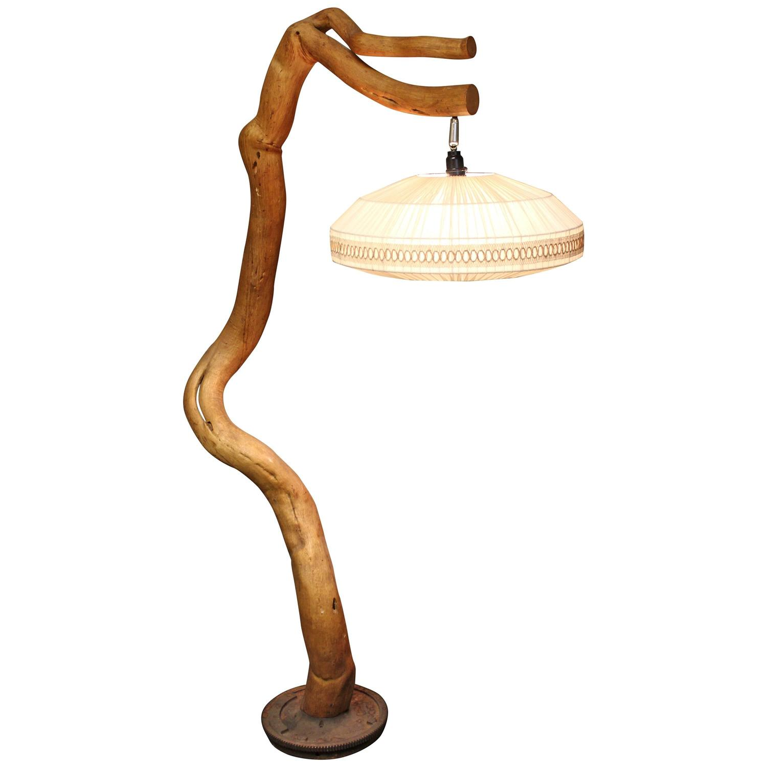 driftwood floor wood drift lamp
