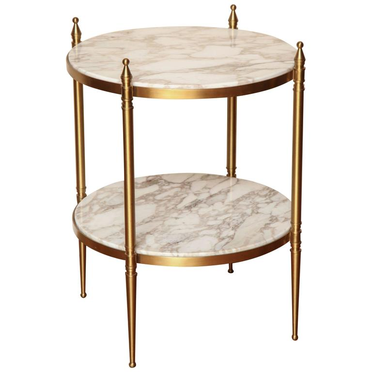 two tiered small round side table at 1stdibs