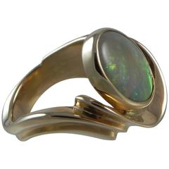 """What The Skies In Heaven Must Look Like"" Gold and Opal One-of-a-Kind Ring"