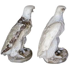 Pair of Cast Stone Garden Eagles