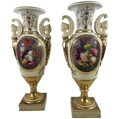 Pair of Davenport Floral Vases
