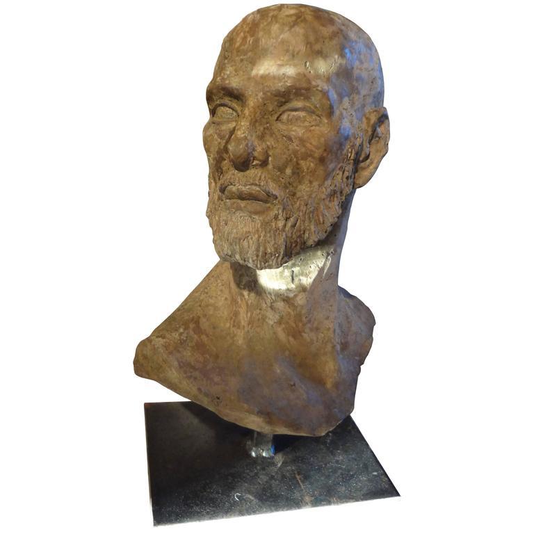 Greco Roman Style Terra Cotta Bust, Italy