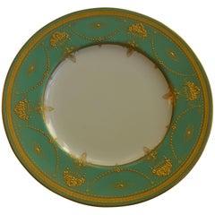 Set of Eleven Royal Worcester Presentation Green Dinner Plates