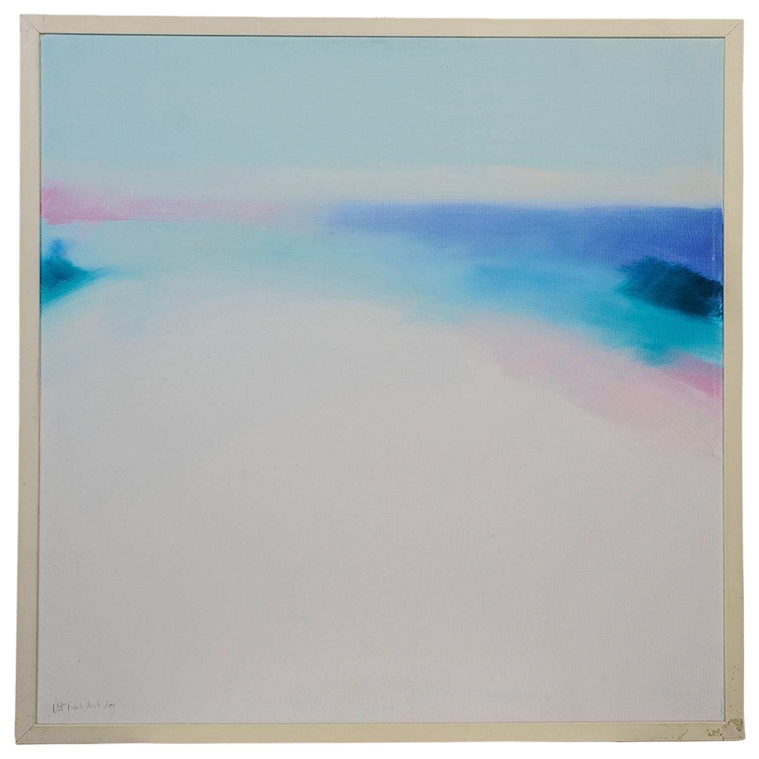 """Mediterranean Light"" Modern Painting Oil on Canvas"