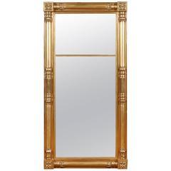 American Federal Giltwood Mirror Attributable to Isaac Platt, New York