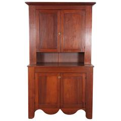 Cherry Wood Cabinet and Hutch