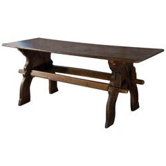Late Gothic 16th century North European Oak Trestle Table
