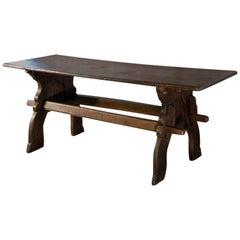 Late Gothic 16th century North European Oak Trestle Table