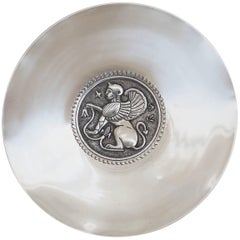 Silver Dish by G. Stephanides Son Cyprus