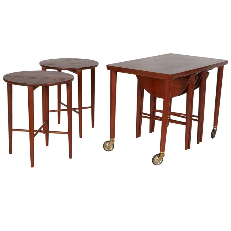 Nesting Snack Tables ~ Set of nesting tables by grete jalk at stdibs