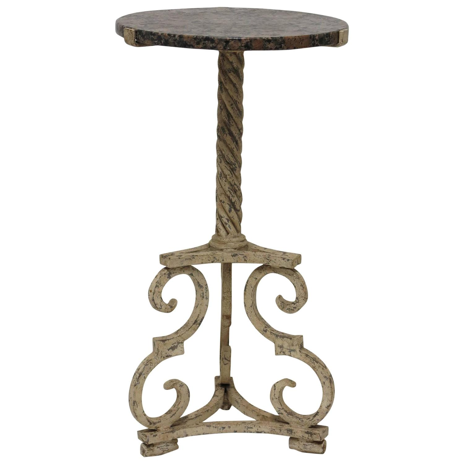 hand wrought iron side table at 1stdibs