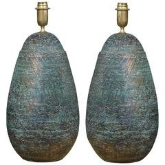 Stunning Pair of Italian Lamps