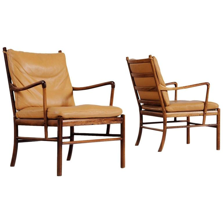 Ole wanscher colonial chairs in rosewood by p jeppesen at for P jeppesen furniture