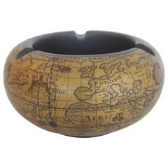 World Globe Ashtray or Bowl from Italy