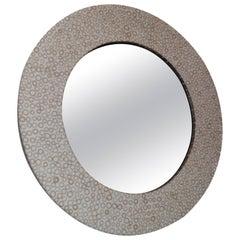 Andrianna Shamaris Bamboo Inlay Round Mirror