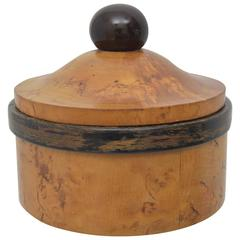 Burl Wood Cigarette Box