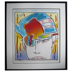 Original Acrylic Painting by Peter Max