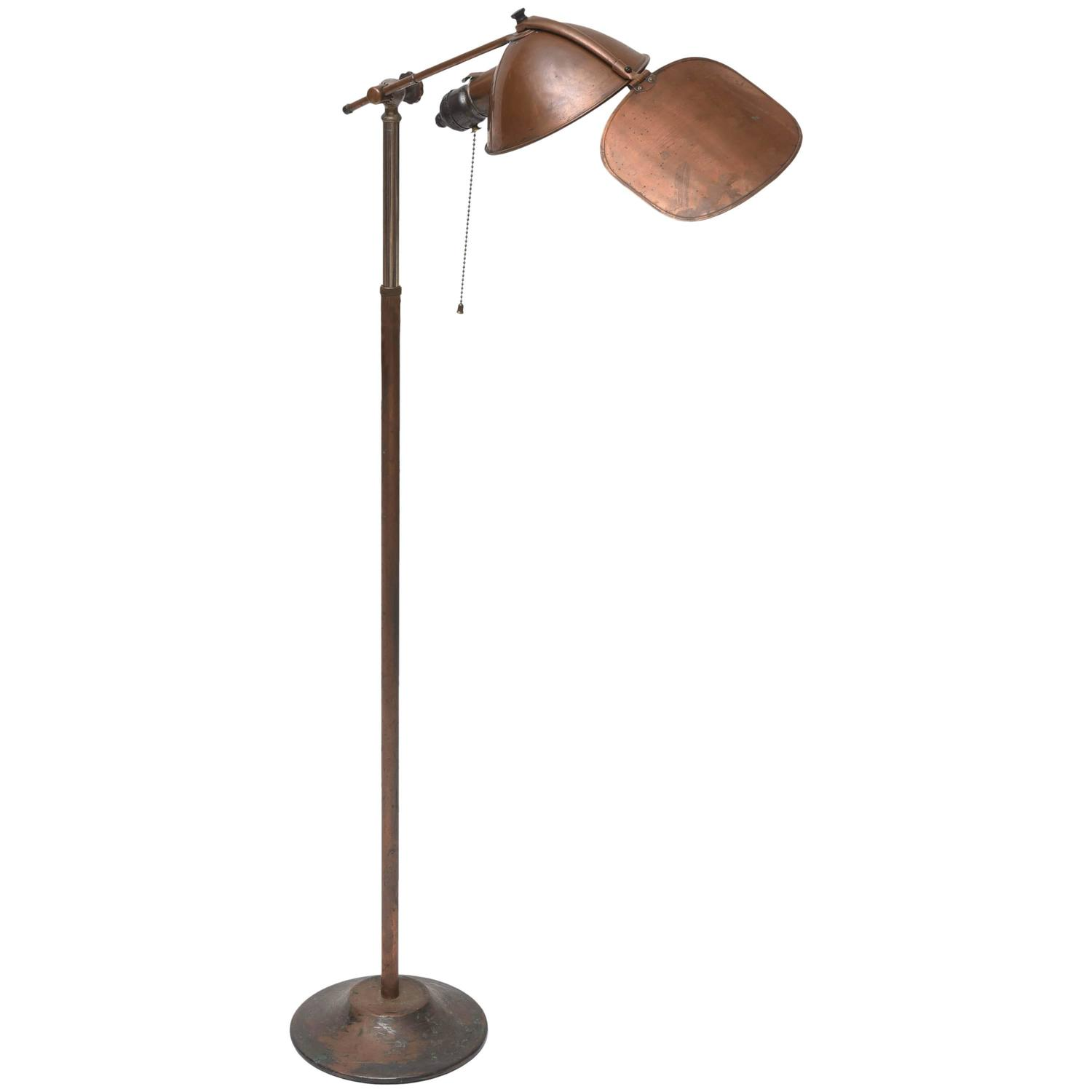 Early copper floor lamp by lyhne lamp company at 1stdibs for Rubi floor lamp copper