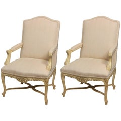 Pair of French Regency Style Armchairs