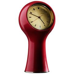 Angelo Mangiarotti Bright Red Table Clock
