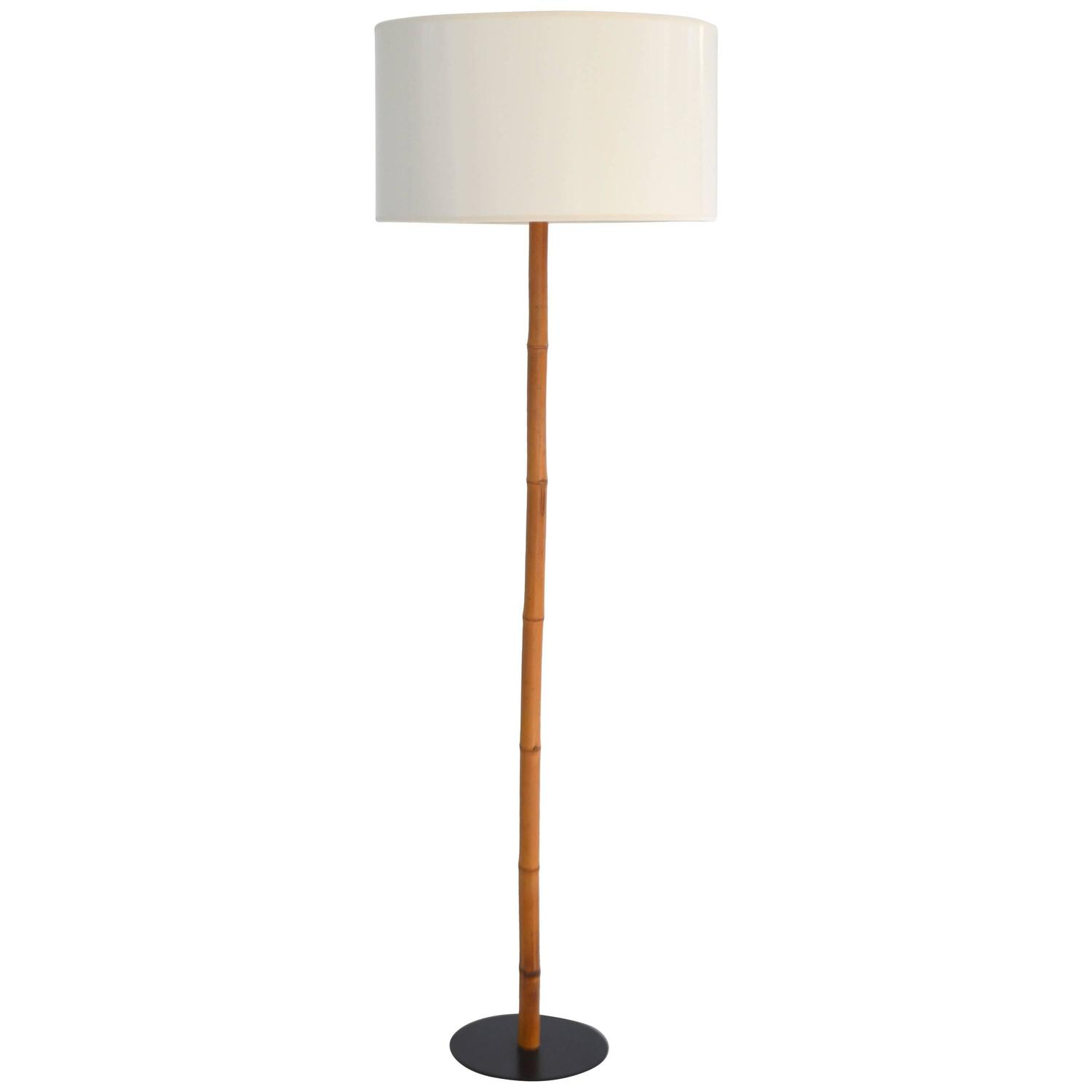 Mid Century Bamboo Floor Lamp by George Kovacs For Sale at 1stdibs