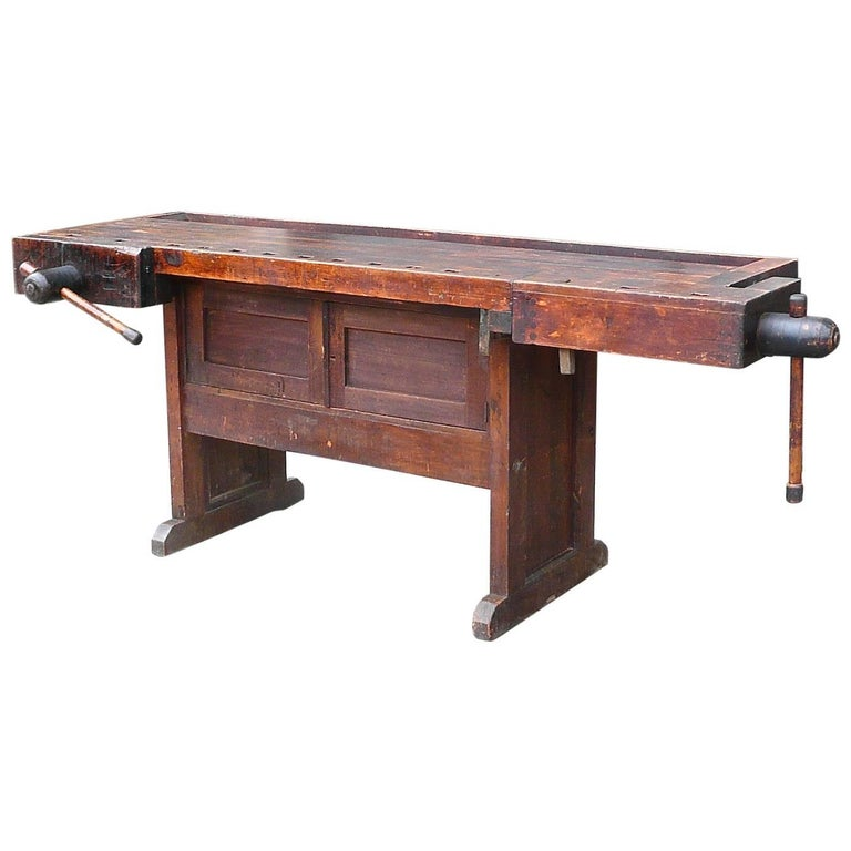 Fantastic Industrial Cabinet Makers Workbench Attributed To Hammacher Schlemmer Andrewgaddart Wooden Chair Designs For Living Room Andrewgaddartcom