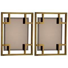 Maison Jansen Pair of Wall Mirror, 1970