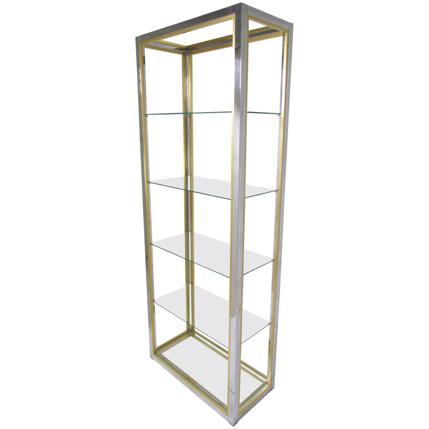 mixed metal italian etagere by renato zevi circa 1970s at 1stdibs. Black Bedroom Furniture Sets. Home Design Ideas