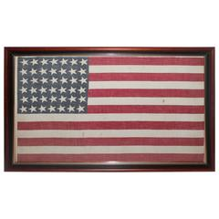 Framed 42 Star American Parade Flag from 1886