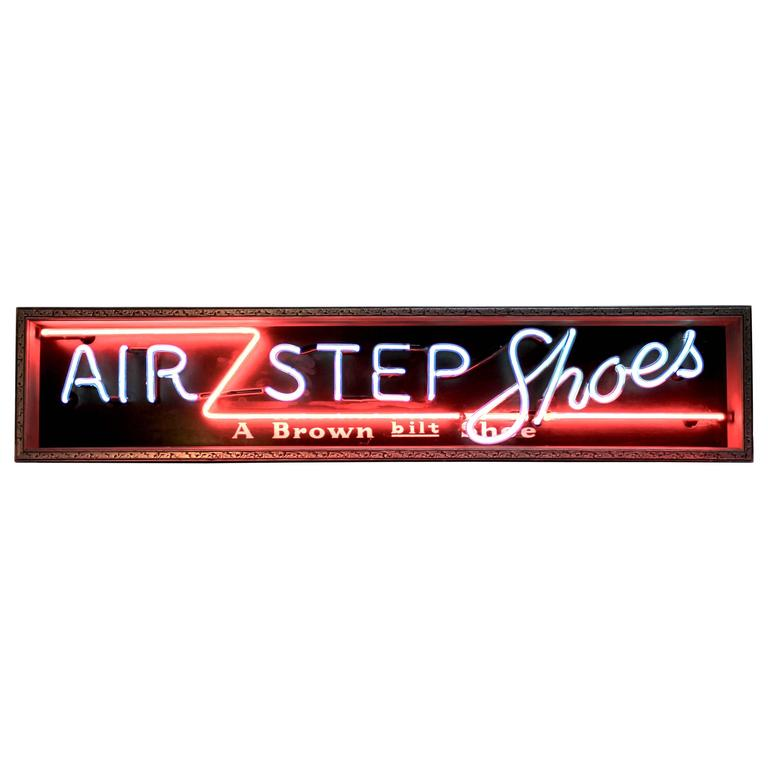 "1935, Art Deco Neon ""AIR STEP Shoes"" Sign"
