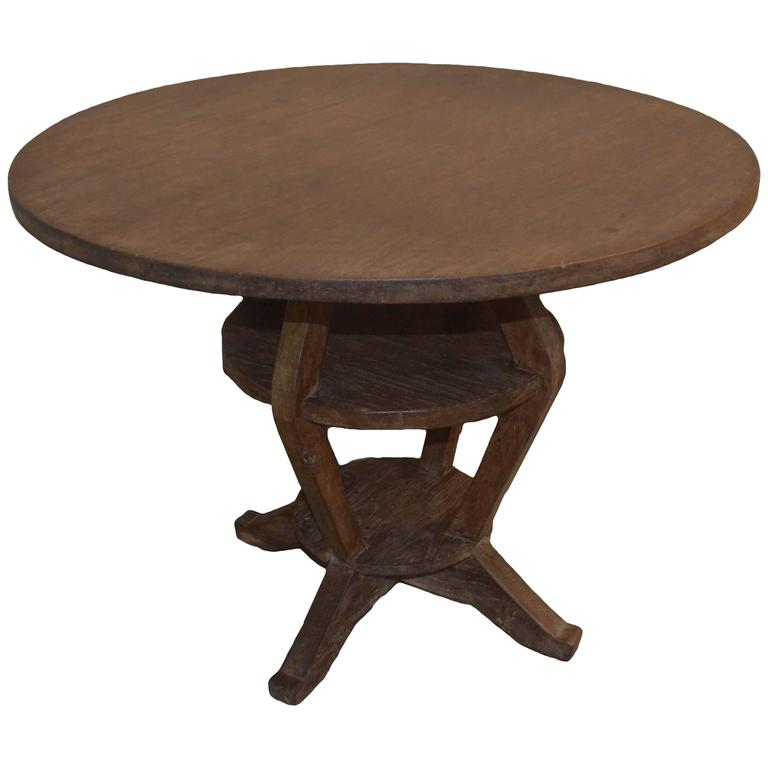 Antique colonial teak wood side table for sale at stdibs