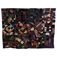 Antique Crazy Quilt Pieced Quilt Top