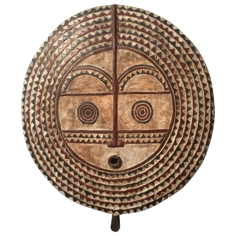 Burkina Faso Large Carved Wood Sun Mask Sculpture At 1stdibs