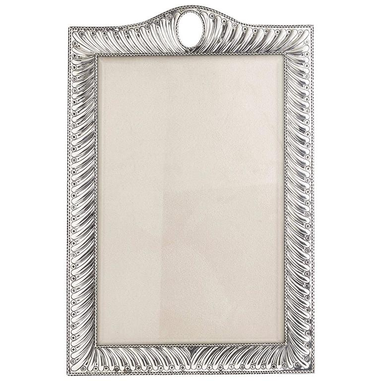 Large 20th Century Silver Photo Frame Dated, London, 1904