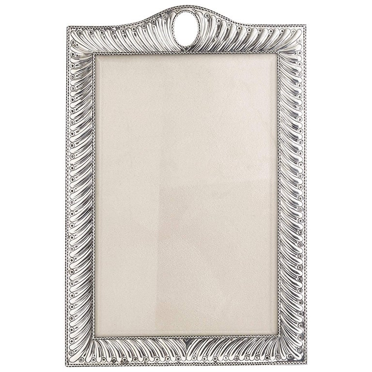 Large 20th Century Silver Photo Frame Dated, London, 1904 For Sale
