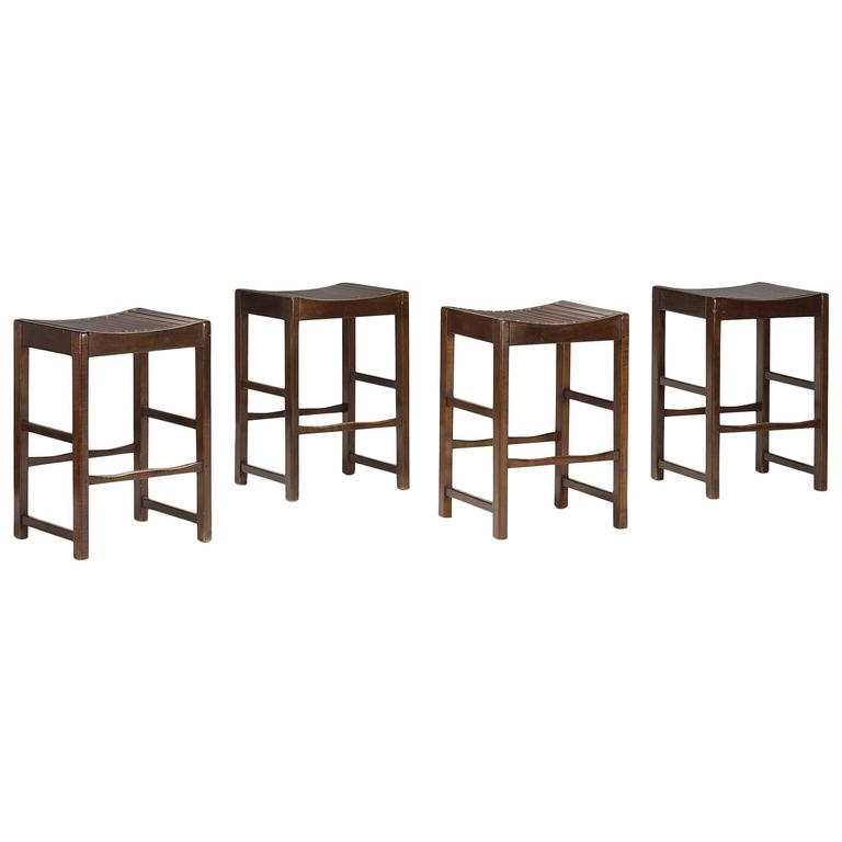 Set Of Four Modern Counter Stools For Sale At 1stdibs