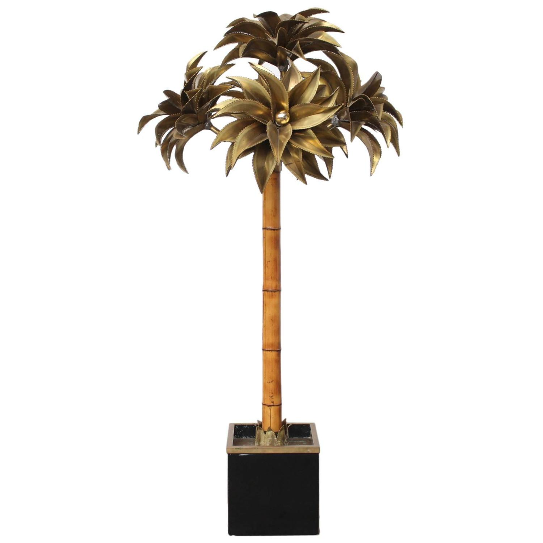 large maison jansen palm tree floor lamp at 1stdibs. Black Bedroom Furniture Sets. Home Design Ideas