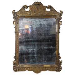 George I Style Giltwood Mirror