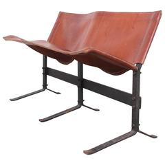 Leather Bench by Max Gottschalk