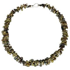 Bronze Necklace of 18th and 19th Igbo Bug Beads from Nigeria Africa Jewelry
