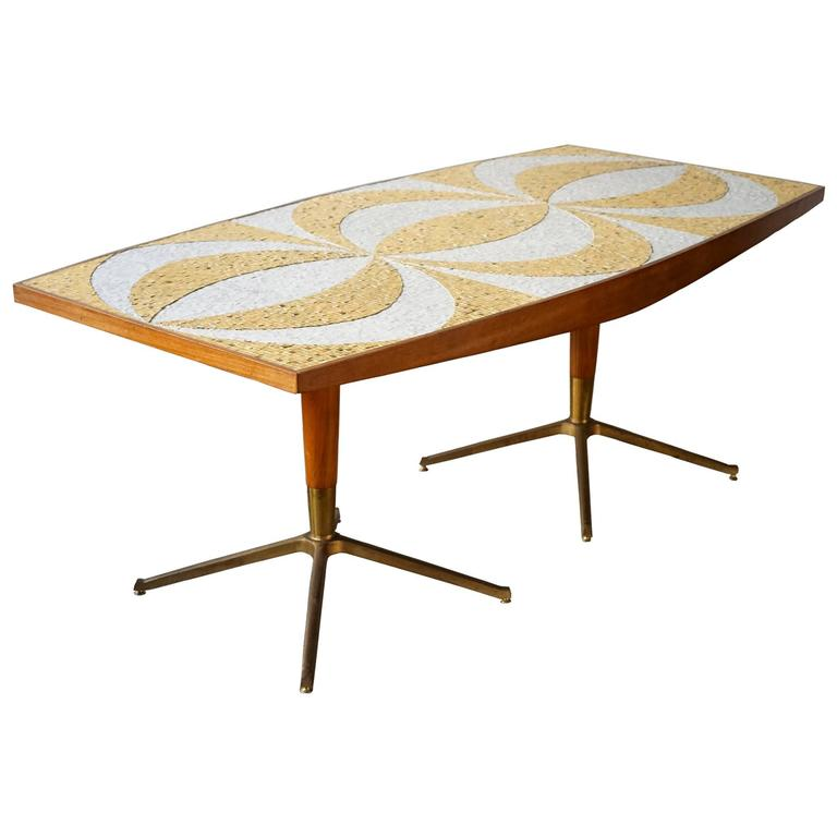 mid century mosaic dining table at 1stdibs
